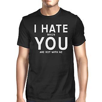 Jeg hader du Herre sort T-shirt sjove gaveideer til Valentinsdag