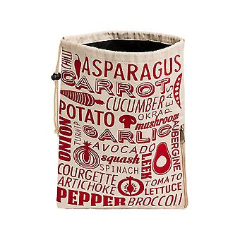 Household storage containers porter vegetable bag - red