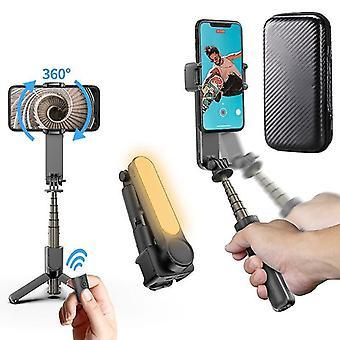 Univerzální ruční gimbal stabilizátor 360 rotační selfie tyč stativ s plnicím světlem pro
