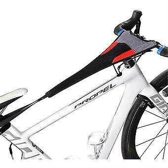 Mimigo Bicycle Trainer Sweat Net Frame Guard Absorbs Sweat Black Red