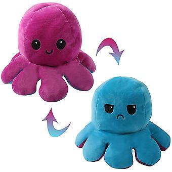 Roztomilé Chobotnice Baby Hračky Obojstranné Flip Mäkké reverzibilné chobotnice Plus plnené