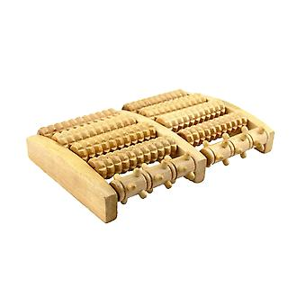 Wooden Nail Five Rows Of Foot Massager Sole Foot Massager For Rest (wood Color)