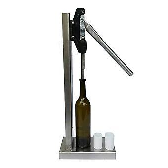 Manuaalinen pullokorkin puristuskone, jossa on 2 pom-päätä