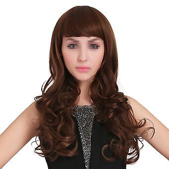 Long Curled Hair Wig Cap Japonesa Kanekalon Silk