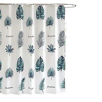 Sc impermeable anti moho tela cortina de ducha con ganchos antibacterianos lavables a máquina verde 180 x200cm