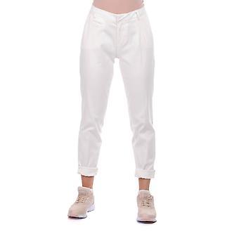 blå hvit kvinners hvite stoff bukser