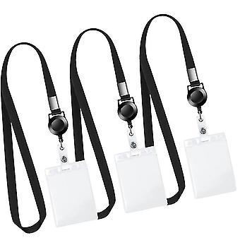 Leuyuan nyaki kantárpánt behúzható jelvényes szíjjal és függőleges személyi igazolvány toktal, 5 db