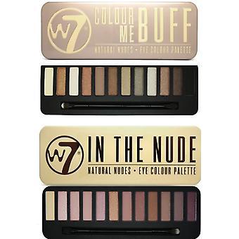 W7 Eyeshadow palety - (kolor mnie Buff' + kolor mnie nago)