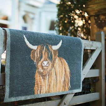 Esteras del abrazo alfombra país Highland 1