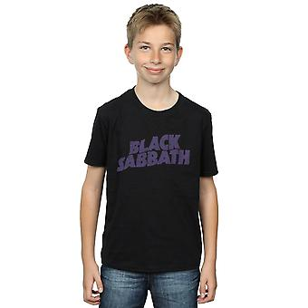 Black Sabbath jungen Distressed Logo T-Shirt
