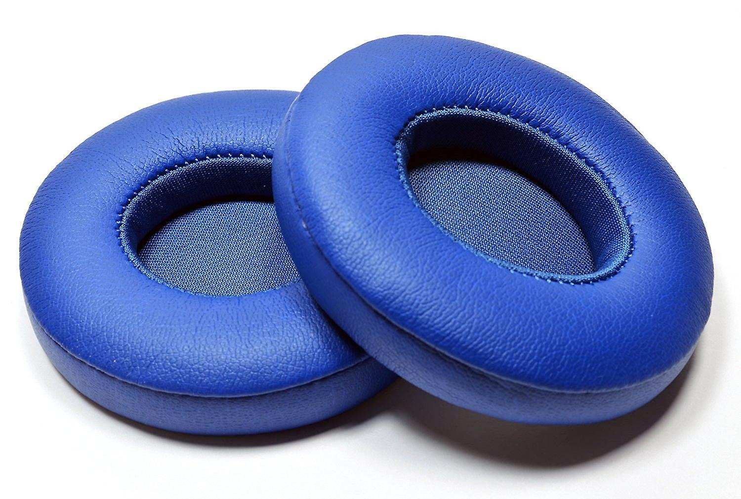 REYTID Replacement Blue Ear Pad Cushion Kit Compatible with Beats By Dr. Dre Solo2 & Solo2 Wireless Headphones