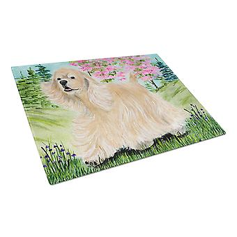 Carolines Treasures  SS8189LCB Cocker Spaniel Glass Cutting Board Large