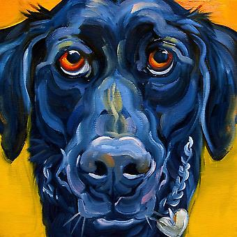 Black Dog Poster Print by Connie R Townsend