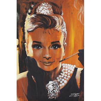 Audrey Hepburn - Breakfast at Tiffanys - Stephen Fishwick Poster Poster Print