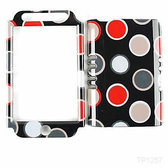 Unlimited Cellular Rocker Snap-On Case pour Apple iPod Touch 4 - New Polka Dots on Black