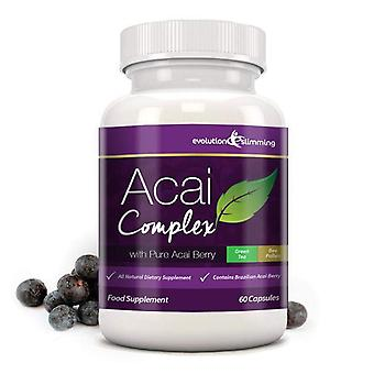 Acai Berry komplexa 455 mg - 60 kapslar (1 månad leverans) - Acai Berry - Evolution bantning