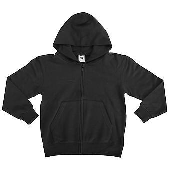 SG Kids/Childrens Unisex Plain Full Zip Hooded Sweatshirt / Hoodie