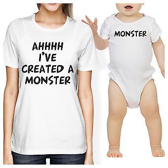 Создал монстра мама и ребенок соответствующий подарок Футболки детские комбинезон