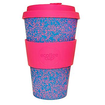 Ecoffee Cup Miscoso Dolce met roze siliconen 14oz