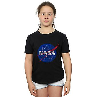 NASA Girls Classic Insignia Logo Distressed T-Shirt