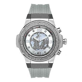 Joe Rodeo diamond men's watch - PANTHER silver 1.5 ctw