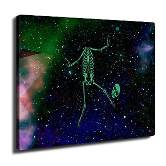 Dance Skeleton Rock Wall Art Canvas 40cm x 30cm | Wellcoda