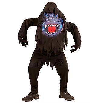 Gorilla Big hoofd kostuum