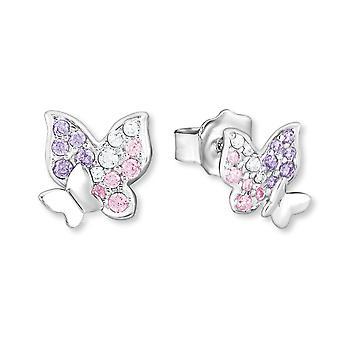 Princess Lillifee children earrings silver Butterfly cubic zirconia 2021063