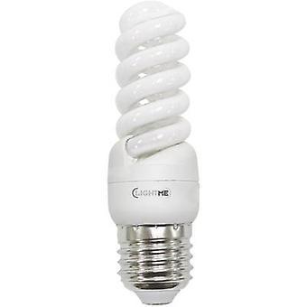 LightMe Energy-saving bulb EEC: A (A++ - E) E27 105 mm 230 V 11 W Warm white Spiral shape 1 pc(s)