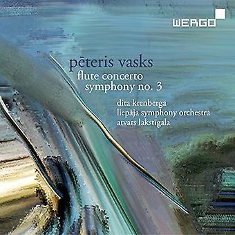 Vasks / Liepaja Symphony Orchestra / Lakstigala - Flute Concerto & Symphony No 3 [CD] USA import