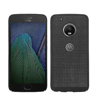 Handy Hülle für Motorola Moto G5 Schutzhülle Case Tasche Cover Etui Schwarz