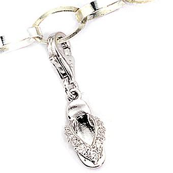 Charm pendant BADESCHUH 925 sterling silver chain cubic zirconia