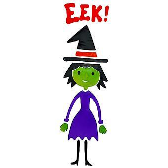Etiqueta de la ventana de Halloween Gel - bruja