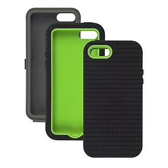 5 Pack -Ventev - CoreGridX Case for Apple iPhone 5/5S - Gray/Lime & Black Gel (Combo Pack)