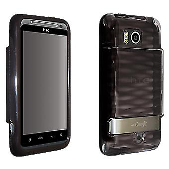 OEM Verizon HTC Thunderbolt ADR6400 High Gloss Silicone Cover for Extended Battery (Black) (Bulk Packaging)