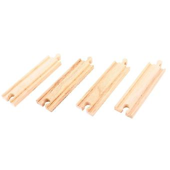 Bigjigs ferroviarie in legno medio rettilinei (confezione da 4)