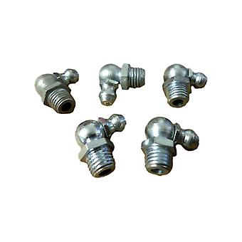 Big A 3-685000 Brass Pipe Nipple Grease Fittings 90 deg 8mm x 15.3mm 5 Pcs
