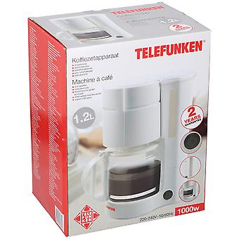 Telefunken Koffiezetapparaat 1.2L 1000W wit