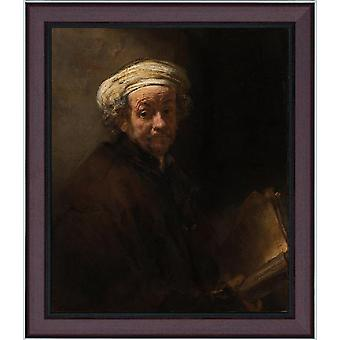 Avec Ram Self-Portrait As, REMBRANDT Harmenszoon van Rijn, 60x50cm
