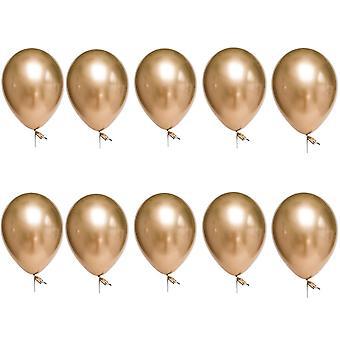 TRIXES пакет из 10 металлических латексные шары 12-дюймовый партии украшения цвет золото