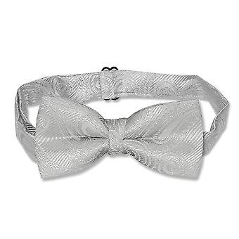 Covona BOY'S Paisley BOWTIE Solid Color Youth Bow Tie