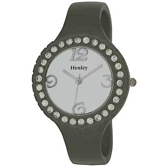 Henley Metallic Grey Crystal Bangle Ladies Fashion Watch H07120.3