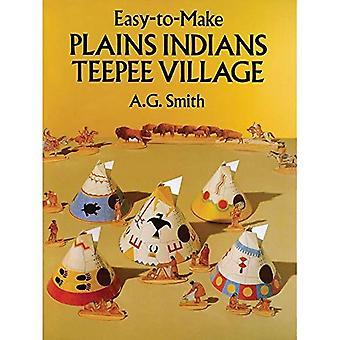 Lätt att göra slätter indiska tältkåta Village