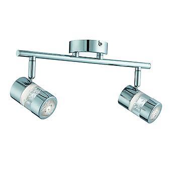 Bubbles króm és akril LED két fény fürdőszoba Spotlight on Bar-keresőfénnyel 4412CC