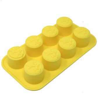 Jeu des trônes-glace en forme de cube Lannister logo jaune, silicone, dans un emballage cadeau.