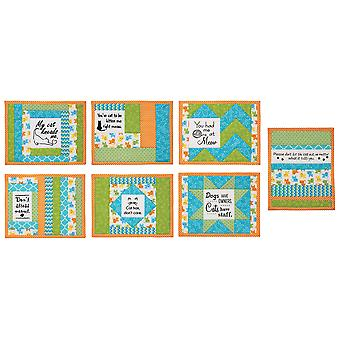 June Tailor quilt som du går Inspirational mug Mats kit-Daily News 8.5