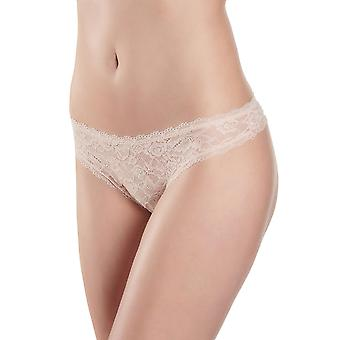 Aubade HK26 Women's Rosessence Nude D'ete Floral Lace Knicker Panty Tanga