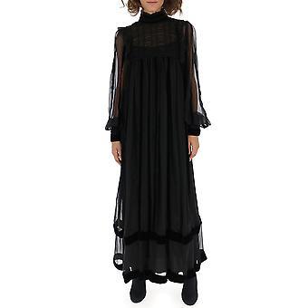 Alberta Ferretti 04455114a0555 Women's Black Silk Dress