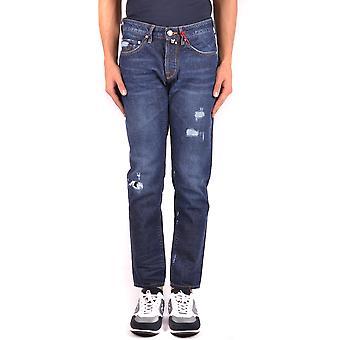 Jacob Cohen Ezbc054286 Hombres's Blue Cotton Jeans
