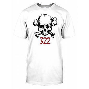 Czaszka i skrzyżowane piszczele 322 - Secret Society - spisek męskie T Shirt